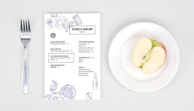 Présenter ses menus sur un flyer