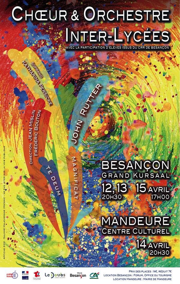 Flyer Choeur & Orchestre Inter-Lycées