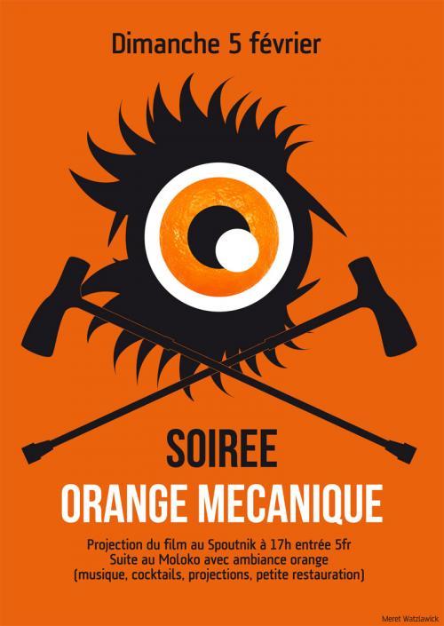 Flyer Orange Mecanique