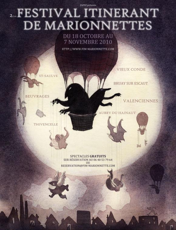 Flyer Fesival itinerant de marionnettes