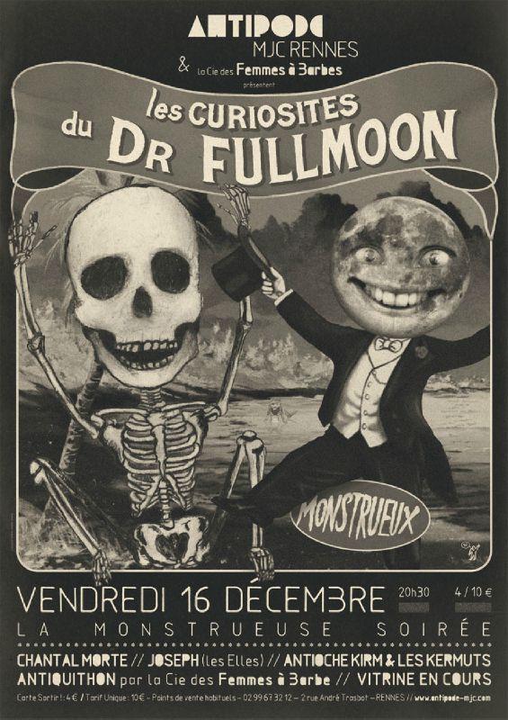 Flyer Les curiosités du Dr Fullmoon
