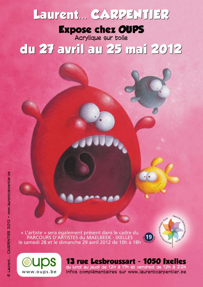 Flyer Exposition Laurent Carpentier