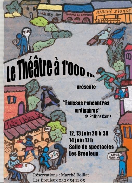 Flyer Le théâtre à 1000m