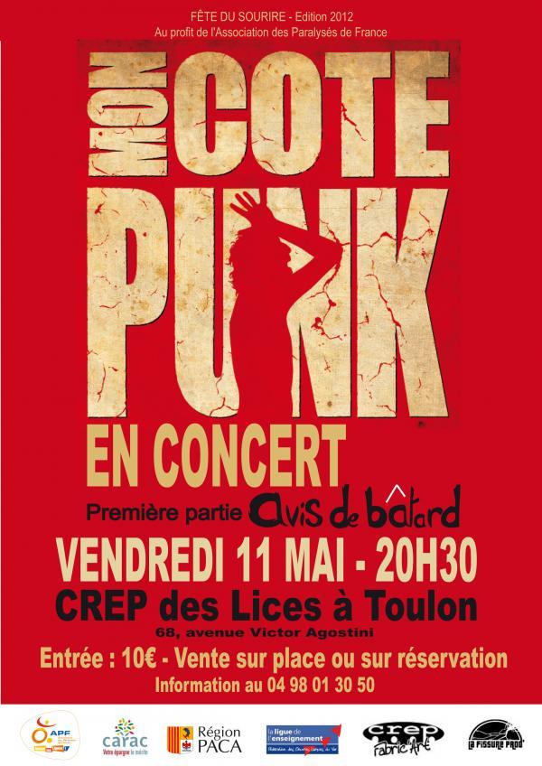 Flyer Concert Mon Côté Punk à Toulon