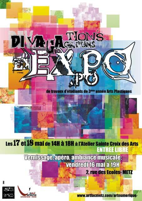 Flyer Exposition travaux d'étudiants
