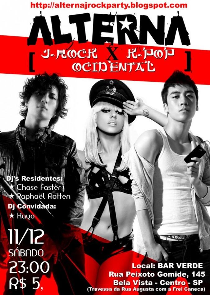 Flyer Alterna  rock party