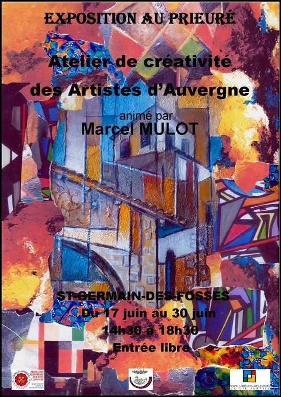 Flyer Exposition au pireuré: atelier de créativité