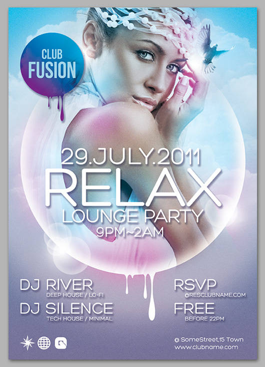 Flyer Relax Lounge Party