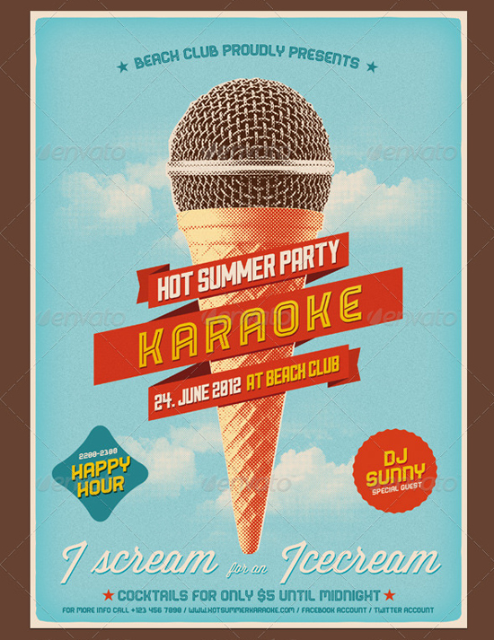 Flyer Hot Summer Party