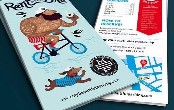 Un flyer de location de vélos bien pensé !